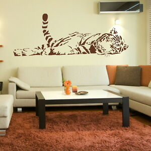 CAT-large-tiger-wall-art-stickers-decals-graphic-bengal-tiger-transfer-art-mural