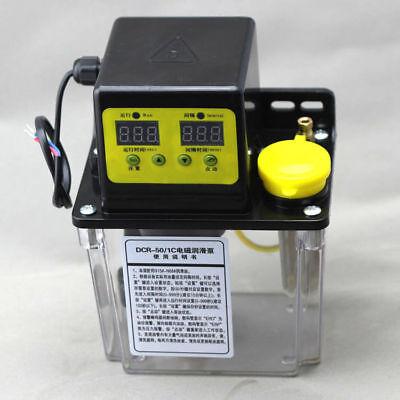 110v 2l Dual Digital Display Automatic Electric Lubrication Pump Oiler Cnc Pump
