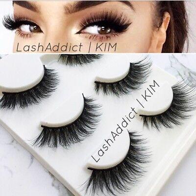 Mink Lashes Eyelashes 3D Flutter 3 pairs Makeup Siberian Vegas • New US (Eyelashes Makeup)