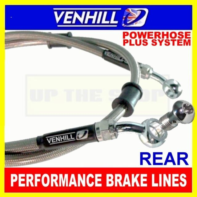 KAWASAKI VN1500 E CLASSIC 1998-99 VENHILL s/steel braided brake line kit rear CL