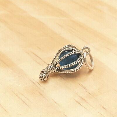NEW Pandora Charm bead #798064NMB Hot Air Balloon Dangle Charm with Blue Crystal Crystal Hot Air Balloon