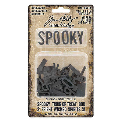 Tim Holtz Idea-ology  Typography Halloween th93611 2017 Advantus (Halloween Crafts Ideas 2017)