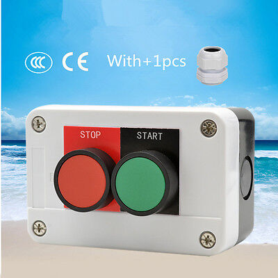 Button Switch Box Control Box Start Stop 22mm Button With Waterproof Connector