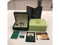 Rolex watch box with accessories