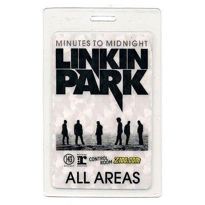 Linkin Park authentic 2007 tour Laminated Backstage Pass Chester Bennington