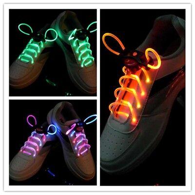 Women Men LED Shoe Laces Flashing Light Up Glow Stick Strap Shoelaces Strings