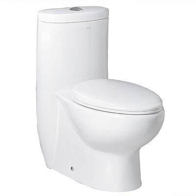 Ariel Bath Hermes Contemporary Elongated One Piece Toilet White