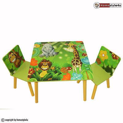 Kindersitzgruppe Kindertisch Kinderstuhl Kinder Möbel Set Dschungel grün