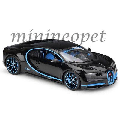 Bburago 18 11040 Bk42 Bugatti Chiron 42 Edition 1 18 Black With Blue Accents