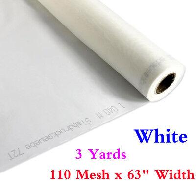 3 Yards 110 Mesh X 63 Width White Silk Screen Silkscreen Printing Fabric Mesh