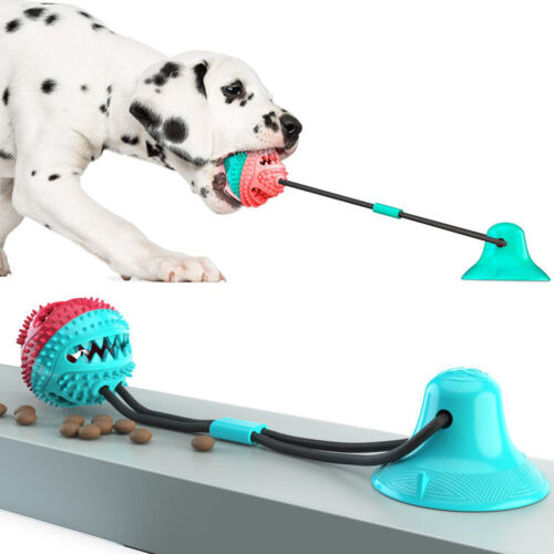 2 Pieces Multifunction Dog Tug Toy Pet Chewing Suction Cup Toy For All 🐕 dogs