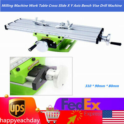15x8x6mm Milling Machine Work Table Cross Slide X Y Axis Bench Vise Drill Device