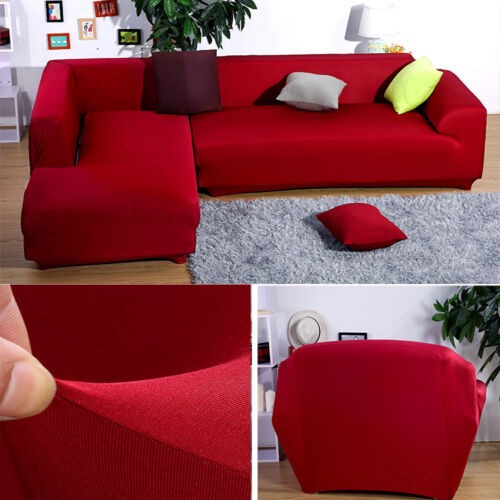 L Shape Sofa Removable Stretch Sofa Slipcover Couch Pillow