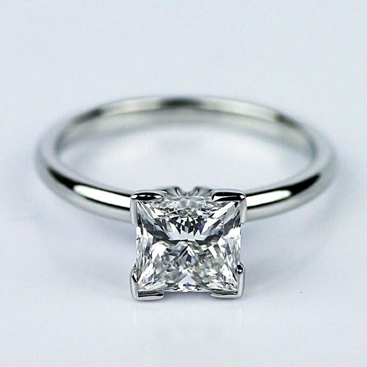 Solitaire GIA 1.99 Carat Princess Cut Diamond Engagement Ring White Gold VS1 J 2