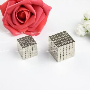 216pcs Nickel White 4x4x4mm Cube Rare Earth Neodymium Strong Permanent Warhammer