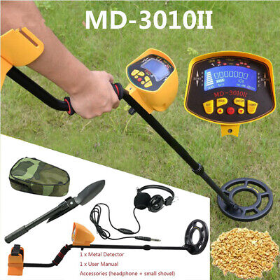Lcd Display Underground Metal Detector Gold Digger Hunter Deep Sensitive Coil Us