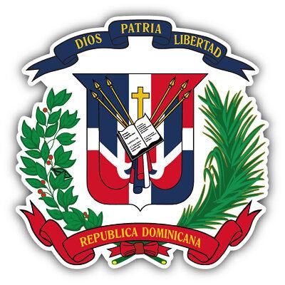 Dominican Republic Coat Of Arms Car Bumper Sticker Decal - 9'', 12'' or 14''