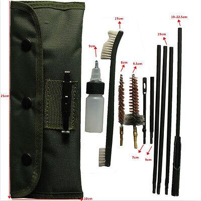 New Set Gun Rifle Shotgun Cleaning Brush Kit Pouch For 22LR 223 556 Rifle Gun