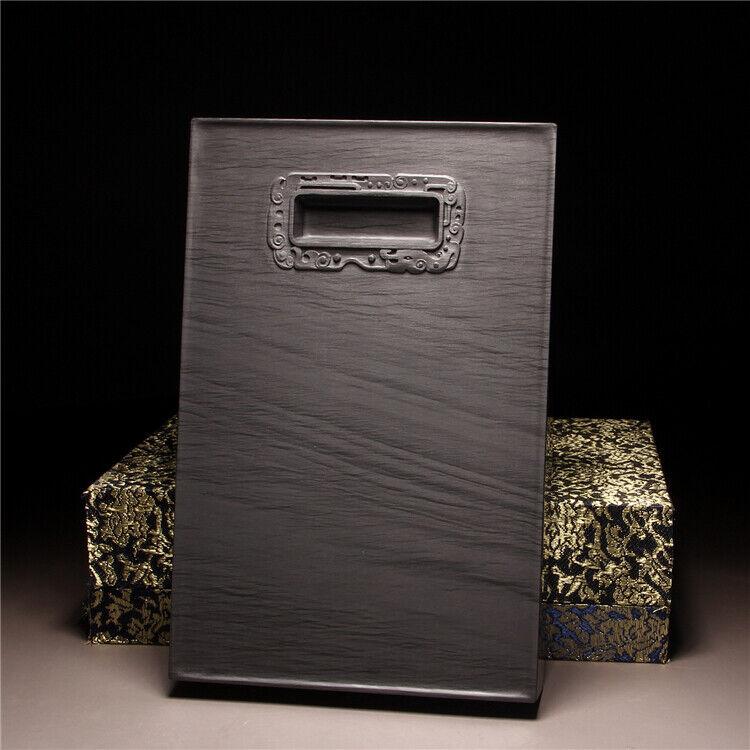 22cm Chinese Huizhou Ink Original Stone Hand-carved Square Inkstone Inkslab 端砚
