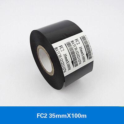10 Pcslot Black Hot Stamp Ribbon Fc2 35mm X 100m For Coder Printer Machine