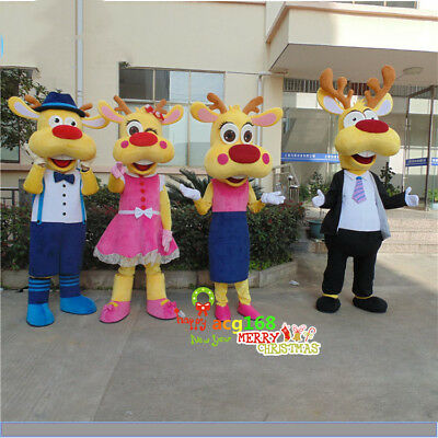 Lovely Deer Mascot Costume Family Style Outfit Animal Reendeer Parade Elegant A+ - Deer Costume Outfit