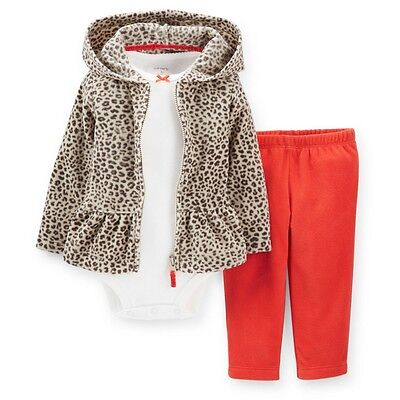 NWT Carters Baby Girls 3 Piece Cardigan Set Clothes 6 9 12 18 24 months