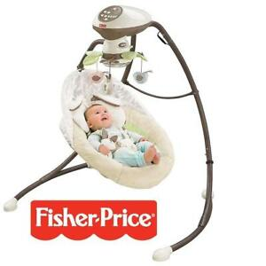 NEW* FISHER PRICE CRADLE AND SWING CCF38 229743821 SNUGABUNNY WITH SMART TECHNOLOGY