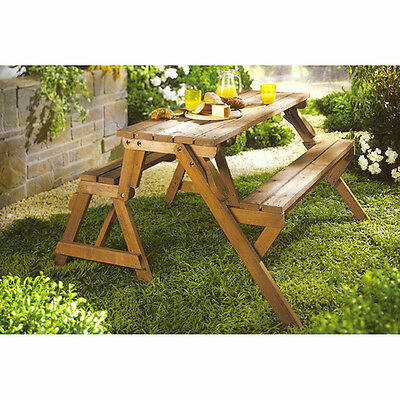 Picnic Tables With Benches Wood Lifetime Folding Bench Garden Backyard Outdoor