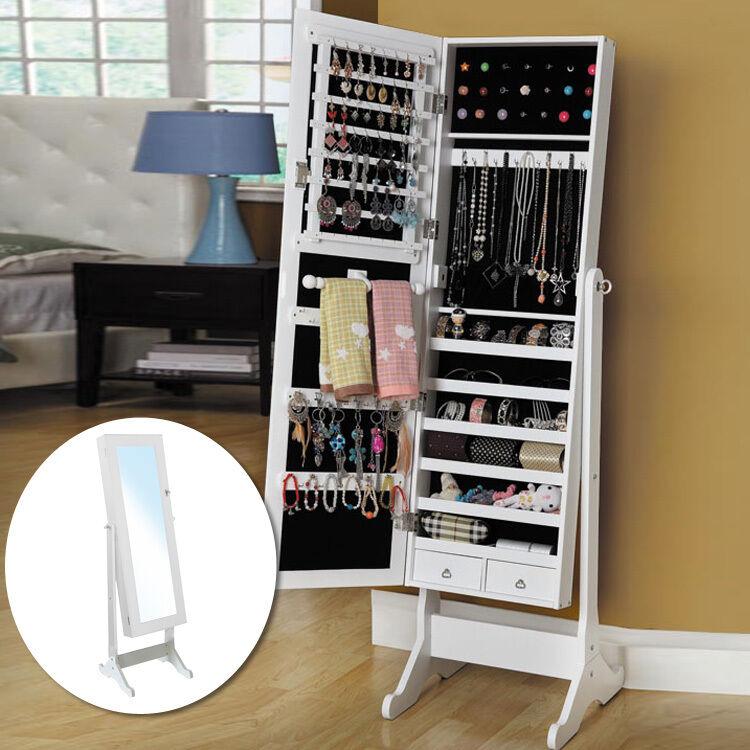 Armadio specchio bianco nero armadio per gioielli portagioie gioielli scatola ebay - Armadio specchio gioielli ...