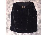 Size 12 black Zara top