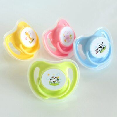 Baby Pacifiers Safe Food Grade Silicone Cute Baby Round Flat Nipples Pacifiers