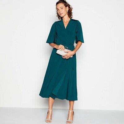 No. 1 Jenny Packham - Bottle Green 'Ultimate' Maxi Wrap Dress Size UK 8 RRP £69