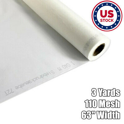 Us Stock 3 Yards 110 Mesh 63 Width Silk Screen Silkscreen Printing Fabric White