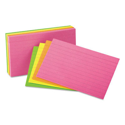 Universal Ruled Neon Glow Index Cards 5 X 8 Assorted 100pack 47257
