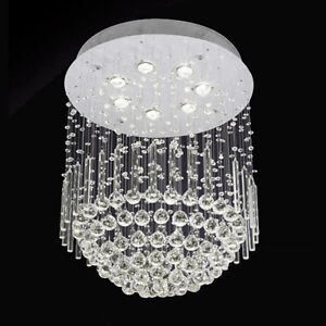 NEW BEAUTIFUL STAINLESS STEEL CRYSTAL CHANDELIER