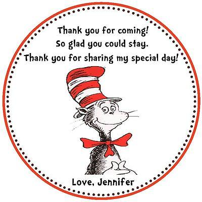 Dr. Seuss Favor Tags - Baby Shower or Birthday