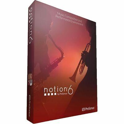 Presonus Notion 6 Music Notation Software: Compose, Arrange, Produce