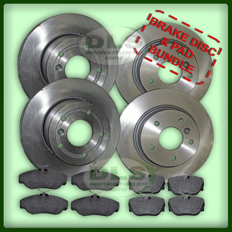 Land Rover Discovery 3 2.7 Rear Brake Disc and EBC pad set