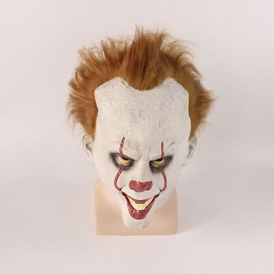 Halloween Cosplay Scary Mask Costume Movie Stephen King's IT Clown Pennywise - Halloween Movie Clown Costume
