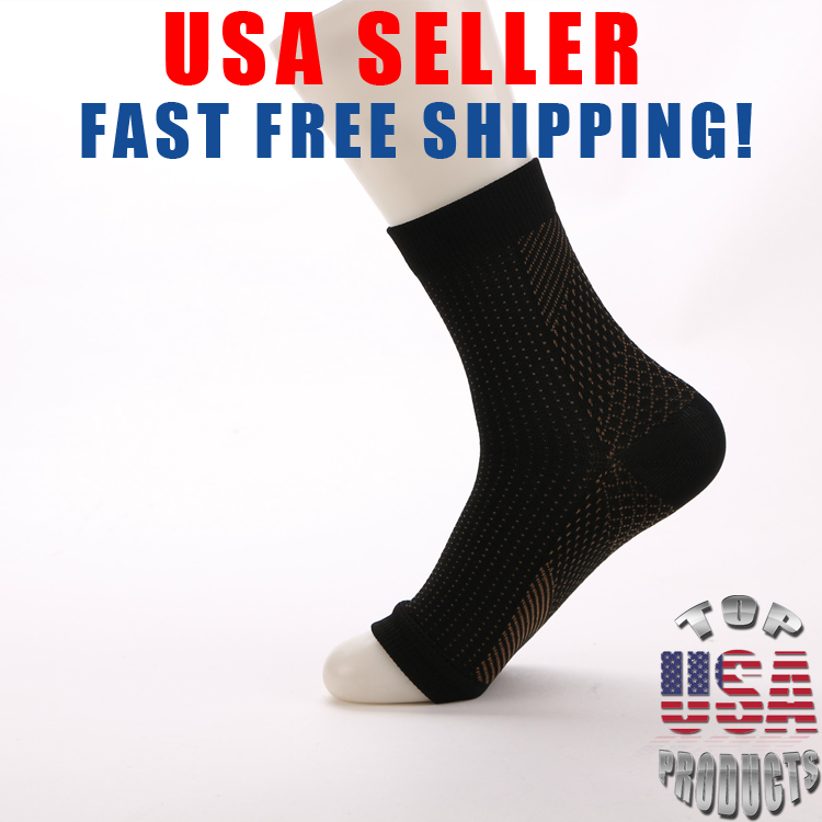 Open Toe Compression Ankle Socks Support Stockings Sleeve Me