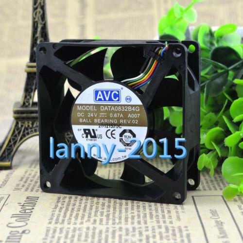1pc For Avc  Data0832b4g 8032 24v 0.67a 8cm    Fan