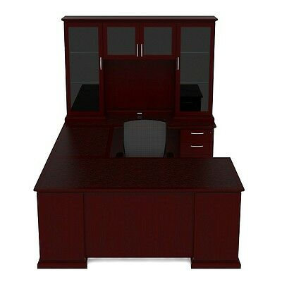 New Emerald Executive U-shape Office Desk With Hutch