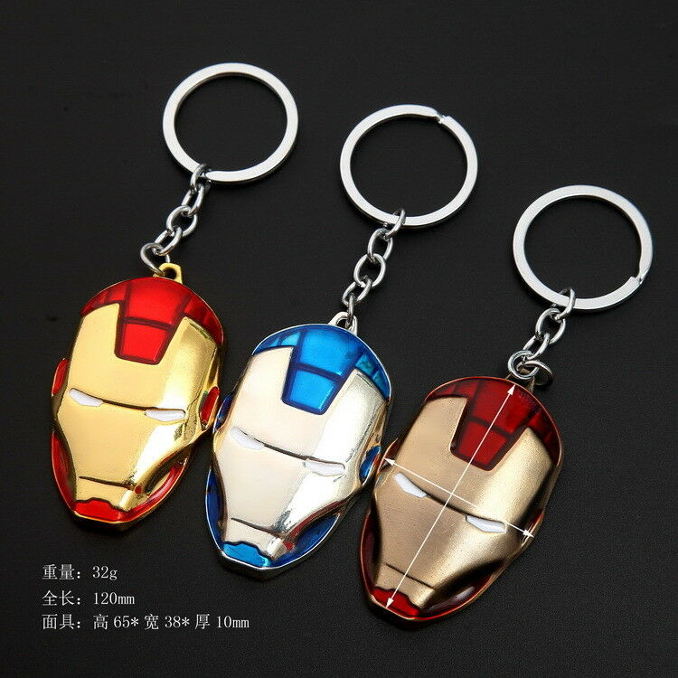 Marvel DC The Avengers Loki Metal Keychain Car Key Chain Keyring for Collection