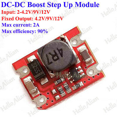 Dc-dc Boost Step Up Voltage Regulator 3.3v 4.2v 5v 6v 9v 12v 2a Converter Module