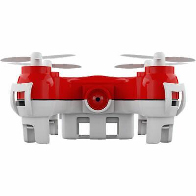 JetJat Nano-C Mini Camera Drone 4 Channel MicroSD Card Recording JJ-NANC-R Red