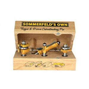 Sommerfeld tools 4 pc Cabinetmaking Pro Set Router Bits