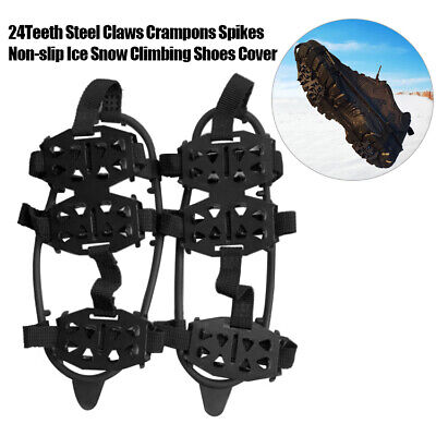 24T Steel Anti Slip Ice Cleats Micro Spikes Grips Traction Cleat Safe Protection