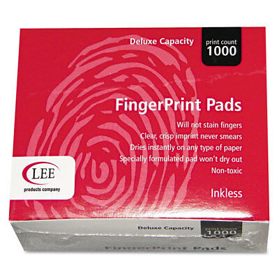 Lee Inkless Fingerprint Pad 2 14 X 1 34 Black Dozen 03127