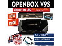 Openbox V9S satellite receiver V9S support 2xUSB USB Wifi WEB TV Cccamd Newcamd YouTube BuildIn Wifi