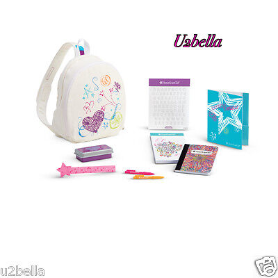 American Girl DOODLE BACKPACK  Set pack TRULY ME NEW IN BOX!!